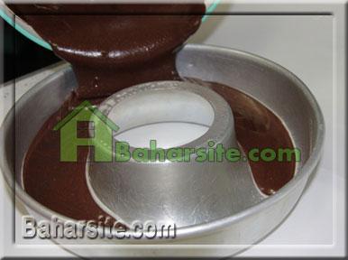 کیک شکلاتی با فراستینگ باتراسکاچ
