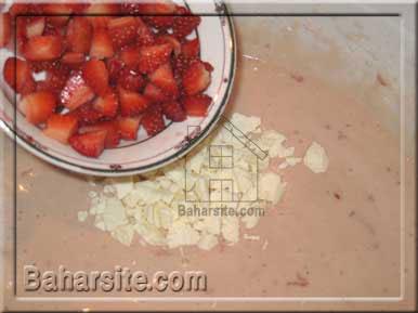 مافین توت فرنگی