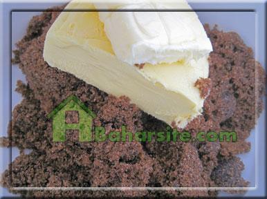 کاپ کیک کره بادام زمینی