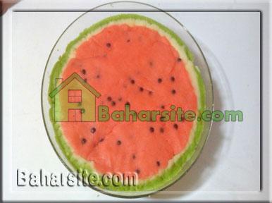 گل نمدی برای روی یخچال ترافل کیک هندوانه