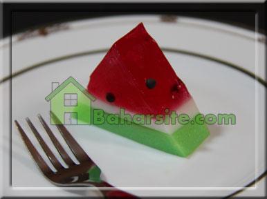 ژله هندوانه چوبی