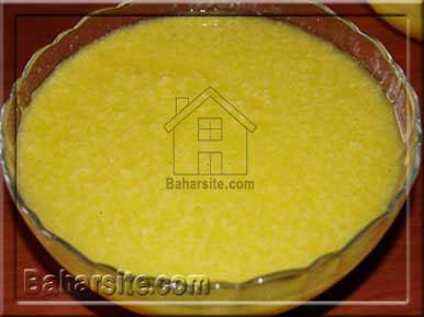 شله زرد به شکل آفتابگردان