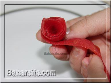 تزیین گوجه به شکل گل
