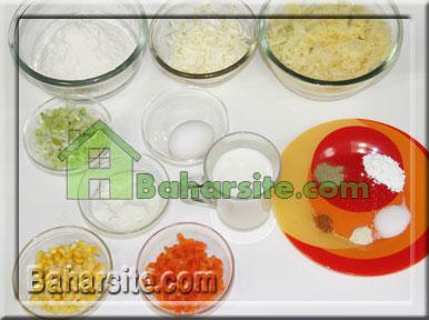 مافین سیب زمینی و سبزیجات