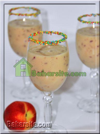 شیک هلو و آناناس