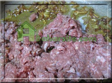 اسنک گوشت و بادمجان