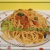 ماکارونی با سبزیجات Spaggetti with Vegetables
