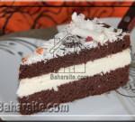 کیک شکلاتی با کرم پنیری