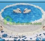کیک دریاچه قو