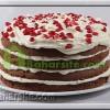 کیک انار و گاناش