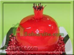 تزیین کیک انار