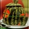 تزئین هندوانه به شکل کلبه