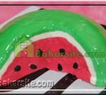 تزیین سالاد به شکل هندوانه