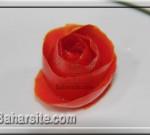 تزیین گوجه فرنگی به شکل گل رز