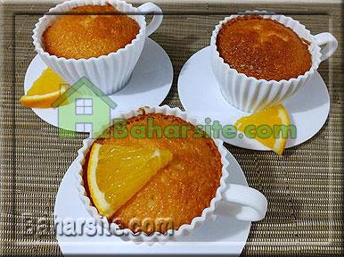 کاپ کیک پرتقالی